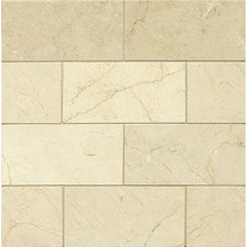 Crema Marfil 3x6 Honed Marble Tile