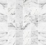 Bianco Carrara Marble Mosaic 2x2 Polished in a 12x12 sheet