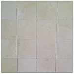 Crema Marfil 12x12 Brushed & Chiseled Marble Tile