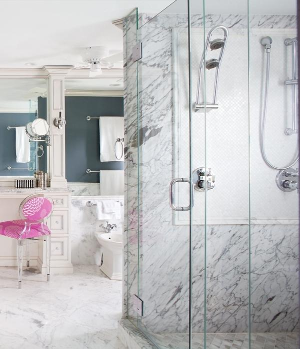 Thassos White Marble Mosaic X Polished - Thassos white marble bathroom