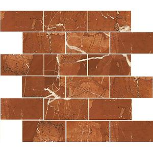 Rojo Alicante Subway Polished Marble Tile 2x4