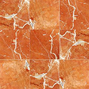 Rojo Alicante 4x4 Polished Marble Tile