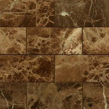 Emperador Dark Mosaic Marble Tile 3x6 Polished